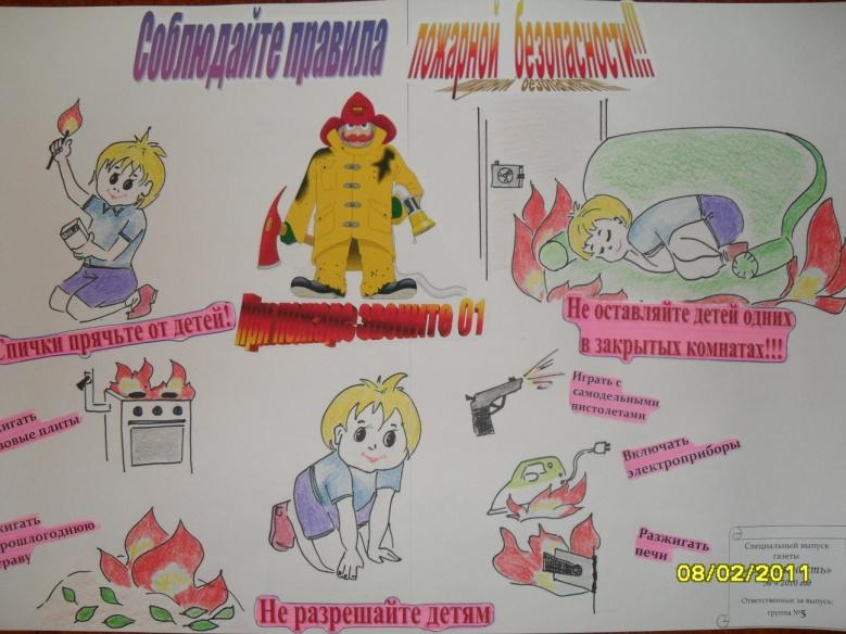 Книжка  по пожарной безопасности в детском саду 200